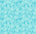 Floral seamless pattern turquoise linear background with leaves decorative dots Stock Images