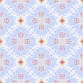 Floral seamless pattern twisting leaves Royalty Free Stock Photography