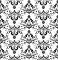 Floral seamless pattern, vecto Stock Photo