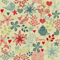 Floral seamless pattern in vector Stock Image