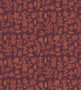 Floral seamless pattern in vector. Spring endless background with flower, branch, heart, leaf etc in gentle colors. Royalty Free Stock Photo