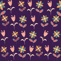 Floral seamless pattern in vintage colors and seamless swatch menu can be used for wallpapers Stock Images