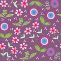Floral seamless pattern in vintage colors and seamless swatch menu can be used for wallpapers Stock Photos