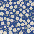 Floral seamless pattern in vintage colors and seamless swatch menu can be used for wallpapers Stock Image
