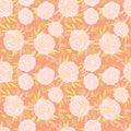 Floral seamless pattern for vintage design. Vector illustration.