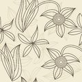 Floral seamless pattern vintage style in vector Stock Photography