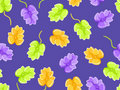 Floral seamless pattern on violet background Stock Images
