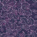 Floral seamless pattern in violet tones Stock Photos
