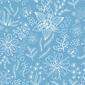 Floral seamless pattern white, Vector Stock Image