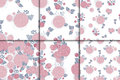 Floral seamless patterns Royalty Free Stock Photo
