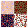 Floral seamless patterns collection Stock Photo
