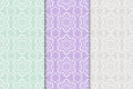 Floral seamless patterns. Colored background Royalty Free Stock Photo