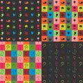 Floral seamless patterns set Stock Image