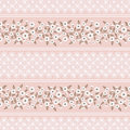 Floral seamless vintage patte Stylized silhouettes of flowers and branches on a pink background. green, white flowers and leaves. Royalty Free Stock Photo