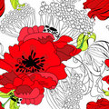 Floral seamless wallpaper Royalty Free Stock Image