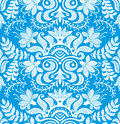 Floral seamless wallpaper pattern vector Stock Image