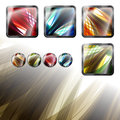 Floral set new collection of modern buttons with style ornament Stock Image