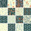 Floral set seamless summer patterns collection Royalty Free Stock Photo