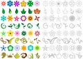 Floral shapes Royalty Free Stock Photo