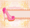 Floral shoes  background Royalty Free Stock Image