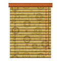 Floral shutter new isolated icon of wooden venetian louvers can use like traditional object Stock Photos