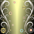 Floral silvery background (vector) Stock Photography