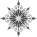Floral snowflake Stock Photography
