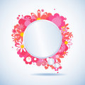 Floral speech bubble Stock Photography
