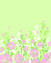 Floral spring or summer background / vector Stock Photography
