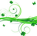 Floral st.Patrick's background Royalty Free Stock Photos