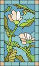 Floral Stained Glass Royalty Free Stock Photo