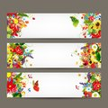 Floral style banners for your design this is file of eps format Royalty Free Stock Photography