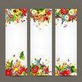Floral style banners for your design this is file of eps format Stock Image
