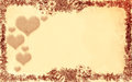 Love. Floral style old paper texture background Royalty Free Stock Photo
