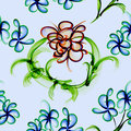 Floral Stylish Wallpaper, Seamless Pattern Royalty Free Stock Photo