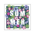 Floral Summer Greeting Card Design. Royalty Free Stock Photo