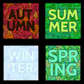 Floral summer,spring and outumn background with text.Inscriptio Royalty Free Stock Photo