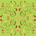 Floral symmetric ornament Stock Photos