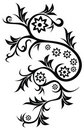 Floral tattoo Royalty Free Stock Image