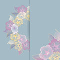 Floral template greeting card with pastel flowers Stock Photo