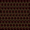 Floral texture. Red flowers, green leaves on a black background, spring, summer, night Royalty Free Stock Photo