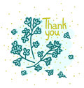 Floral thank you vector card Royalty Free Stock Photography