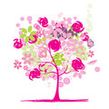 Floral tree beautiful Royalty Free Stock Photo