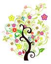 Floral tree beautiful decorated seasonal Royalty Free Stock Photography