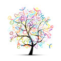 Floral tree colorful for your design