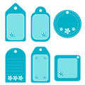 Floral turquoise tags Royalty Free Stock Photography