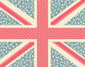 Floral Union Jack Royalty Free Stock Image