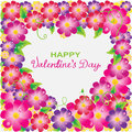 Floral Valentine background with heart shape Royalty Free Stock Image
