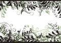 Floral Vector Frame Stock Photos