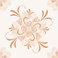 Floral vector retro seamless pattern. Royalty Free Stock Images